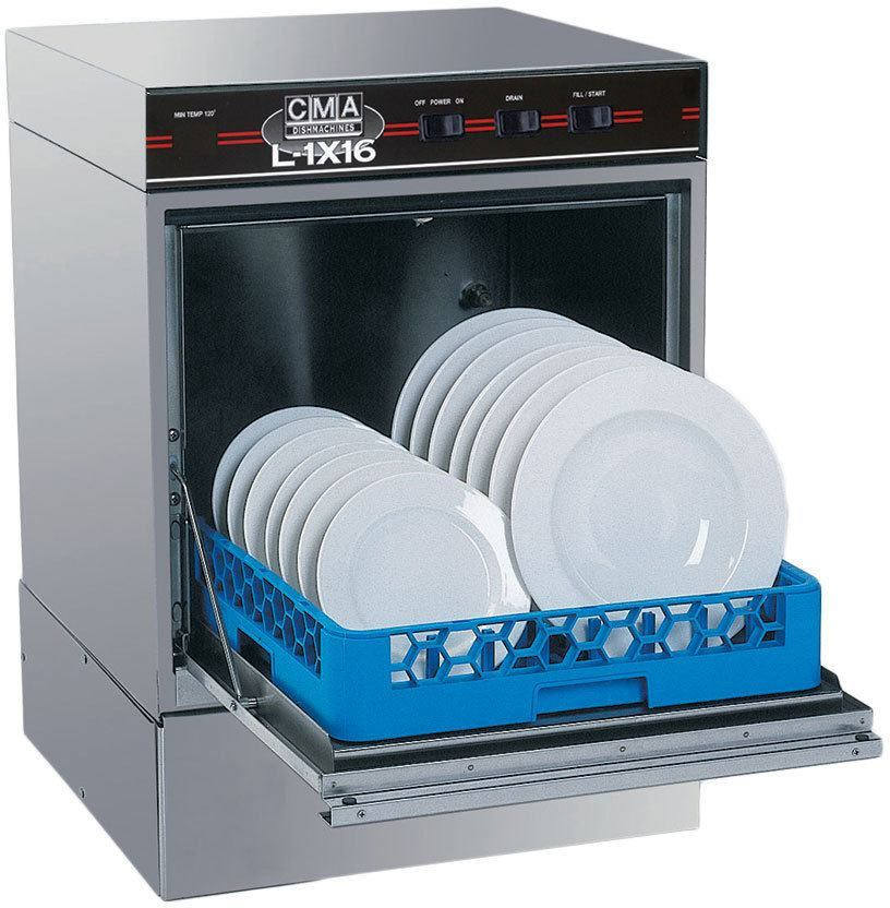 CMA Dishmachines L-1X16 w/ Htr 30 Rack/Hr Undercounter Dishwasher, Low Temperature Chemical Sanitizing w/ Sustainer Heater