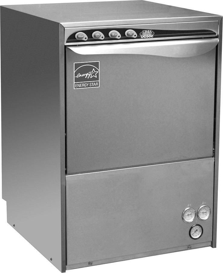 CMA Dishmachines UC50e 30 Rack/Hr Undercounter Dishwasher, High Temperature Sanitizing