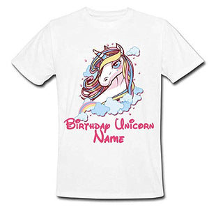 a087ec73b Sprinklecart Unicorn Name Printed Special Design Birthday Tee | Personalized  Birthday Dress for Your Star (