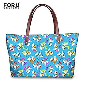f5dc56893812 FORUDESIGNS Handbags Rainbow Unicorn Printed Women Large Tote Bags Fashion  Ladies Girls Casual Summer Beach Handbag Shoulder Bag Color H9925AL