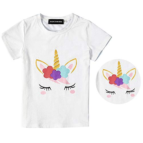 Fancyku Kids Unicorn Print T Shirt Girls Birthday Uni Allthingsunicornin