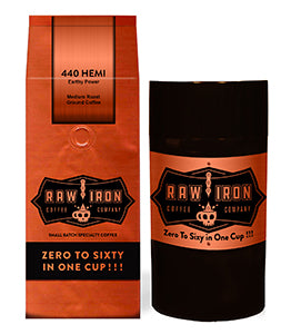 "440 Hemi Ground 12 oz with Tight Vac Coffee Storage,<font size=""3"">Indonesian and South American Arabica beans</font>"
