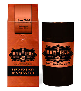 "Heavy Metal Ground 12 oz with Tight Vac Coffee Canister, <font size=""3"">A power-house blend from various regions of Indonesia</font>"