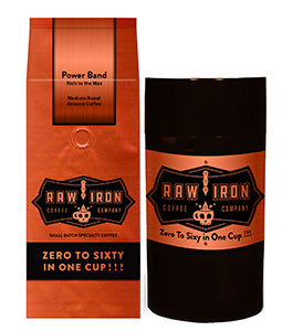 "Power Band Ground 12 oz with Tight Vac Coffee Storage <font size=""3"">Superior Mandheling Coffee of Sumatra, Indonesia.</font>"