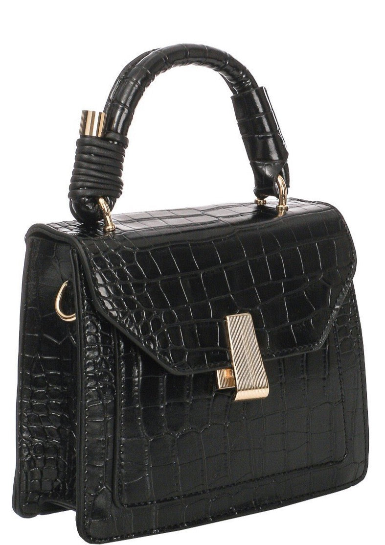 Faux Crocodile Handbag