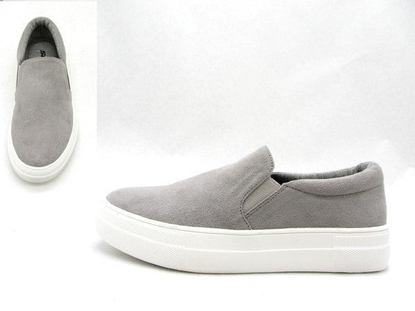 Gray Slip On Sneakers