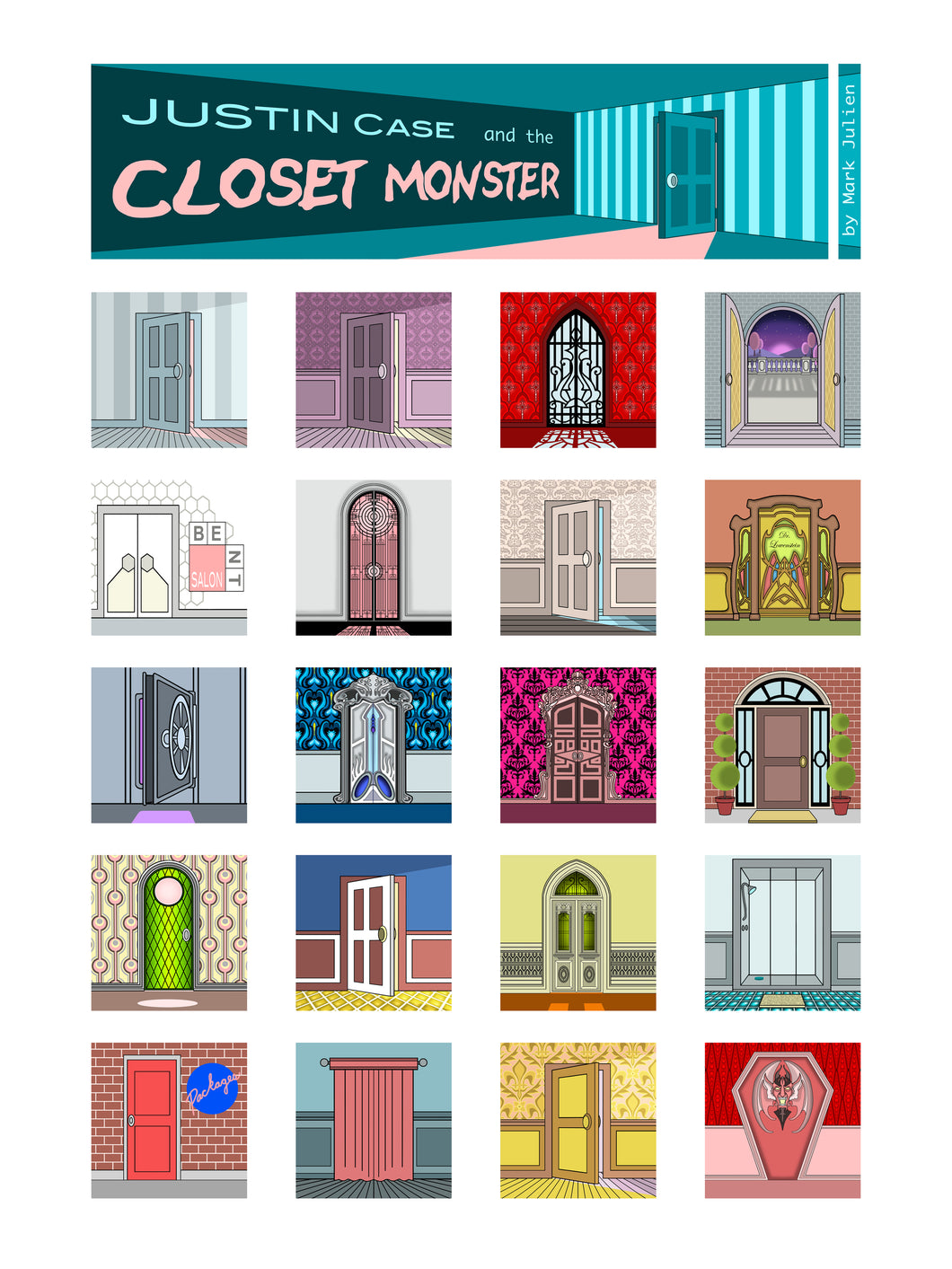 The Doors of Justin Case and the Closet Monster (Poster)