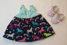 Load image into Gallery viewer, Bitty Baby Colorful Unicorn Sundress