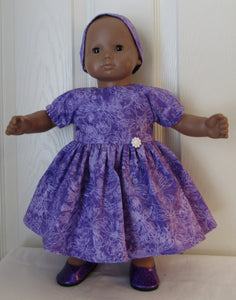 Bitty Baby Purple Dragonfly Dress