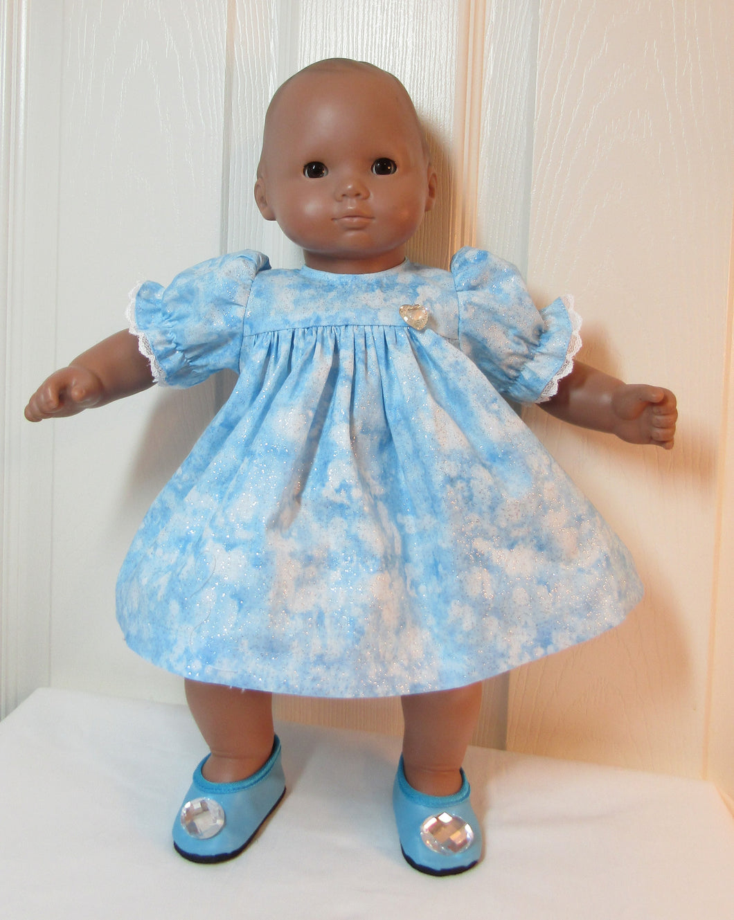 Bitty Baby Sky Blue Sparkly Dress