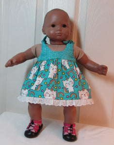 Bitty Baby Unicorn Kitty Sundress