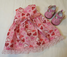 Load image into Gallery viewer, Bitty Baby Glittery Heart Dress