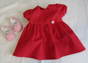 Bitty Baby Red Heart Dress