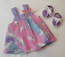 Load image into Gallery viewer, Bitty Baby Unicorn Sundress