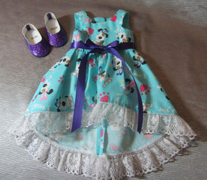 Easter Puppy-Print Decline Dress