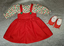 Load image into Gallery viewer, Wellie Wisher Christmas Pinafore Dress