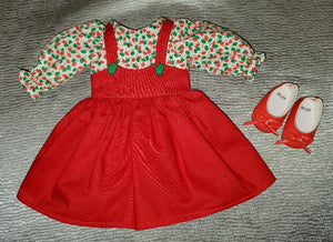 Wellie Wisher Christmas Pinafore Dress