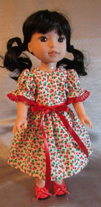 Wellie Wisher Holly Christmas Dress