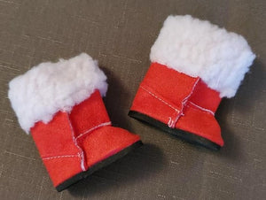Wellie Wisher Red Fur Boots