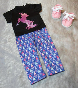 Shiny Unicorn T-Shirt & Leggings