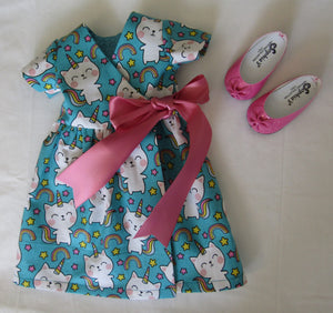Unicorn Kitty Wrap Dress