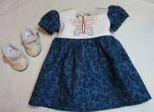 Load image into Gallery viewer, Dark Blue Butterfly Dress