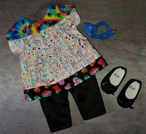 Tie-Dye Dog Tunic and Leggings
