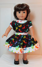 Load image into Gallery viewer, Black & White Rainbow Unicorn Dress