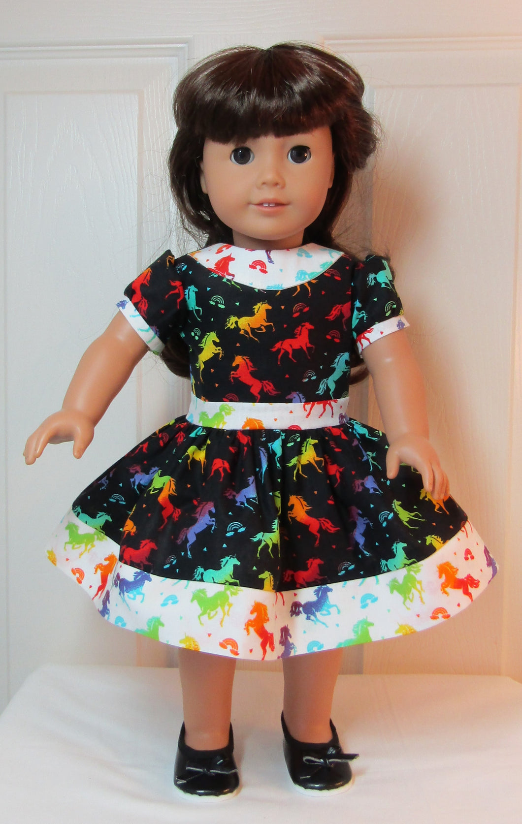Black & White Rainbow Unicorn Dress