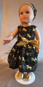 Black and Gold Unicorn Dress