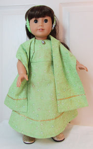 Green Sparkle Dress with Arm Scarf