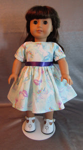 Light Blue and Purple Unicorn Dress