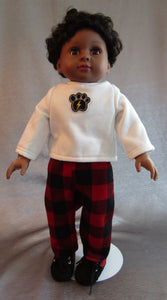 Paw Print Sweatshirt and Flannel Pants