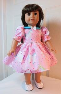 Pink Collared Unicorn Dress
