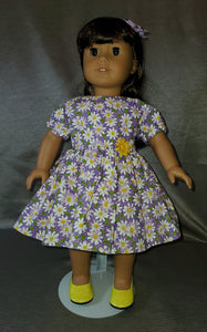 Purple Daisy Dress and Bow
