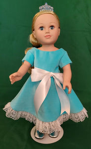 Velvet Formal Swing Dress and Tiara