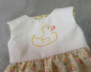 Duck Embroidered Dress