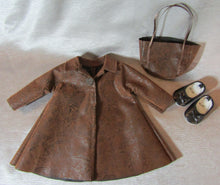 Load image into Gallery viewer, Midi Faux Leather Coat and Bag