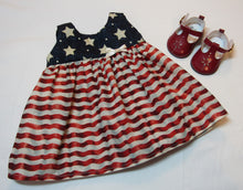 Load image into Gallery viewer, Stars & Stripes Sundress