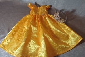 Golden Princess Gown and Crown