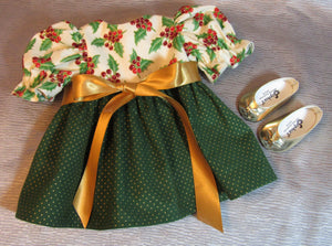 Green and Gold Christmas Dress