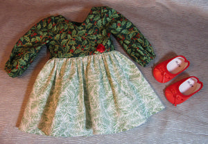 Holly and Evergreen Christmas Dress