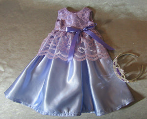 Lacy Lavender Princess Gown and Crown