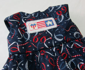 Patriotic Embroidered Dress