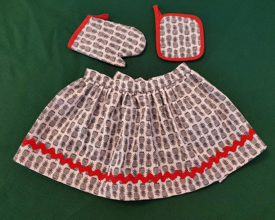 Pineapple Half Apron Set