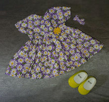 Load image into Gallery viewer, Purple Daisy Dress and Bow