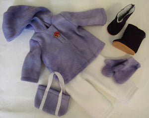 Purple Marble Fleece Set
