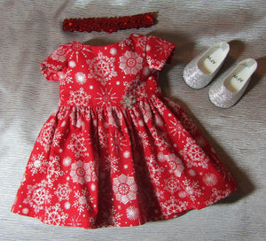 Snowflake-Patterned Winter Dress