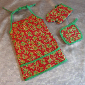 Butcher Christmas Apron Set