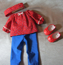 Load image into Gallery viewer, Red Peasant Top and Leggings